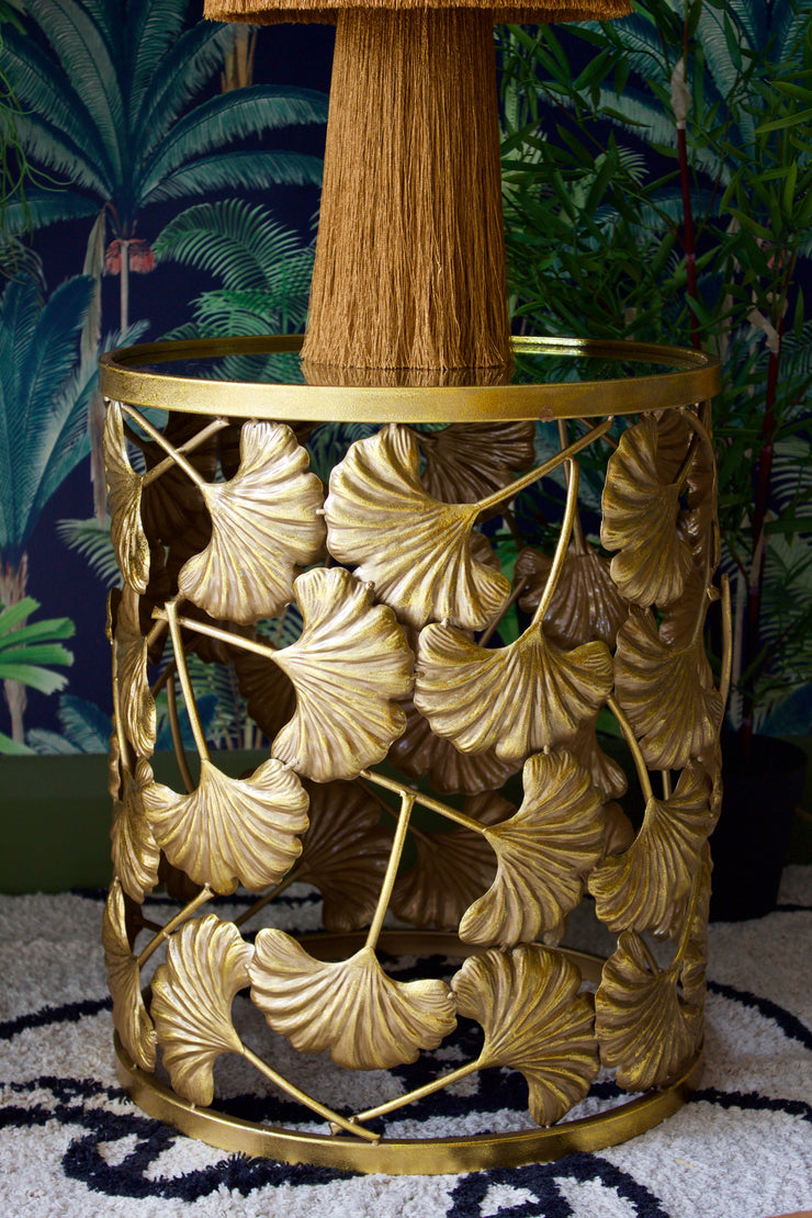 Gold Ginkgo Leaf Table