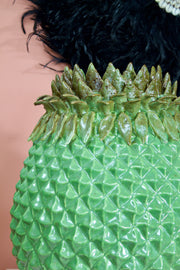 Large Dramatic Pineapple Ceramic Vase