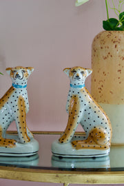 Lovely Leopards Ceramic Decor Set of 2