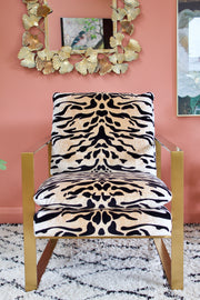 Darling Gold Tiger Print Chair