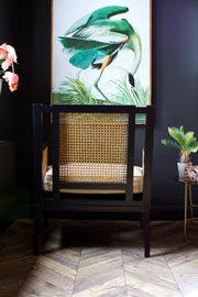 Beautiful Webbed Cane Lounge Chair
