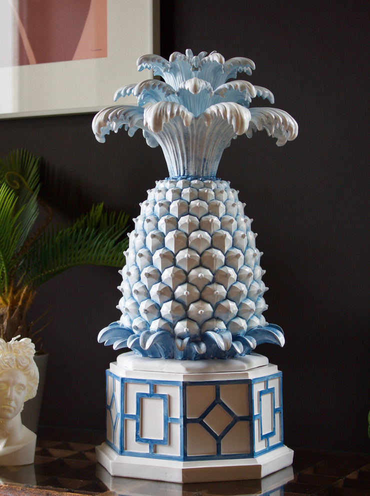 Blue & White Pineapple Box Decor