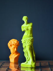 Lime Green Flocked Venus De Milo Figure