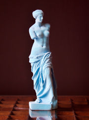 Light Blue Flocked Venus De Milo Figure
