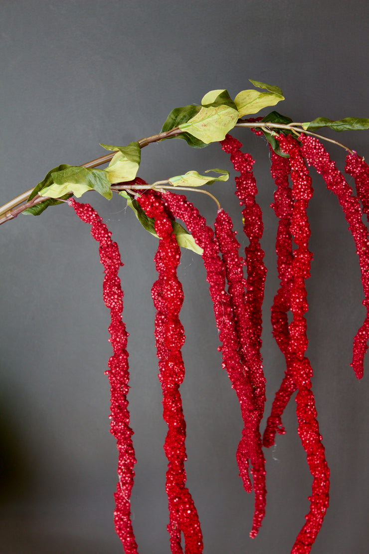 Red Amaranthus Spray - set of 2