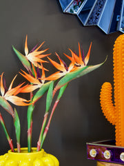 Faux Orange Bird of Paradise Stem - set of 2 stems