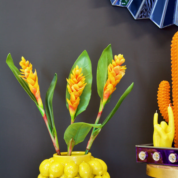 Large Faux Orange Ginger Spray Stem - set of 2 stems
