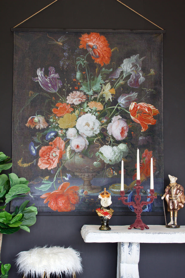 Extra Large Flowers Velvet Wall Hanging