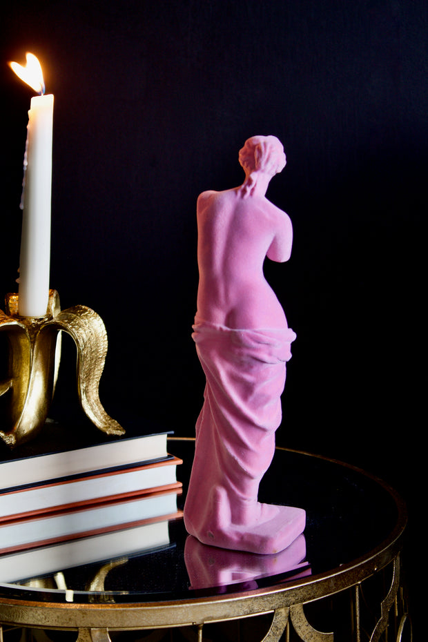 Pink Flocked Venus De Milo Figure