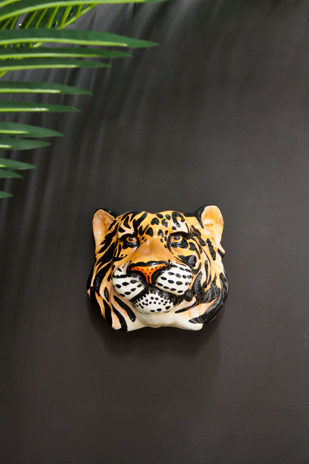 Tiger Head Ceramic Wall Sconce