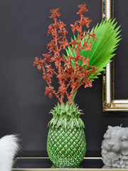 Small Dramatic Pineapple Ceramic Vase
