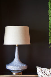 Shagreen Grey Blue Ceramic Table Lamp