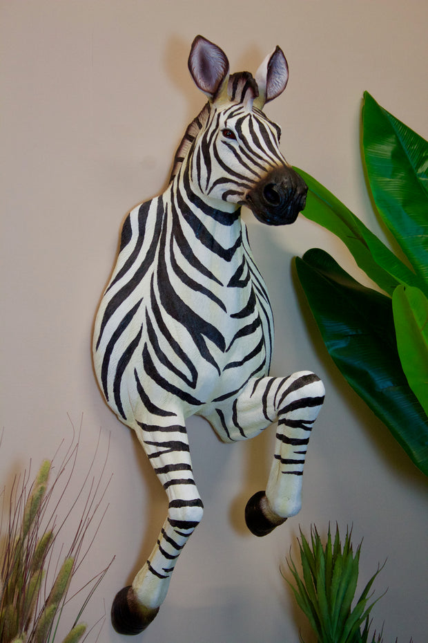 Running Effect Zebra Wall Figure