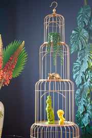Ornate Gold Birdcage Shelves