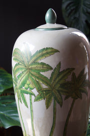 Large Colonial Crackle Glaze Ceramic Jar