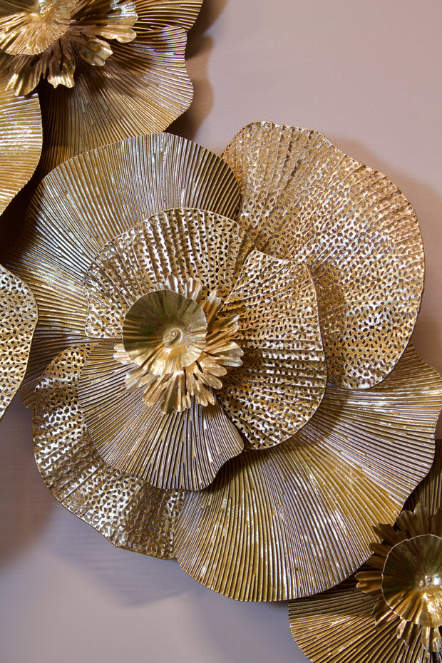 Gold Floral Wall Art