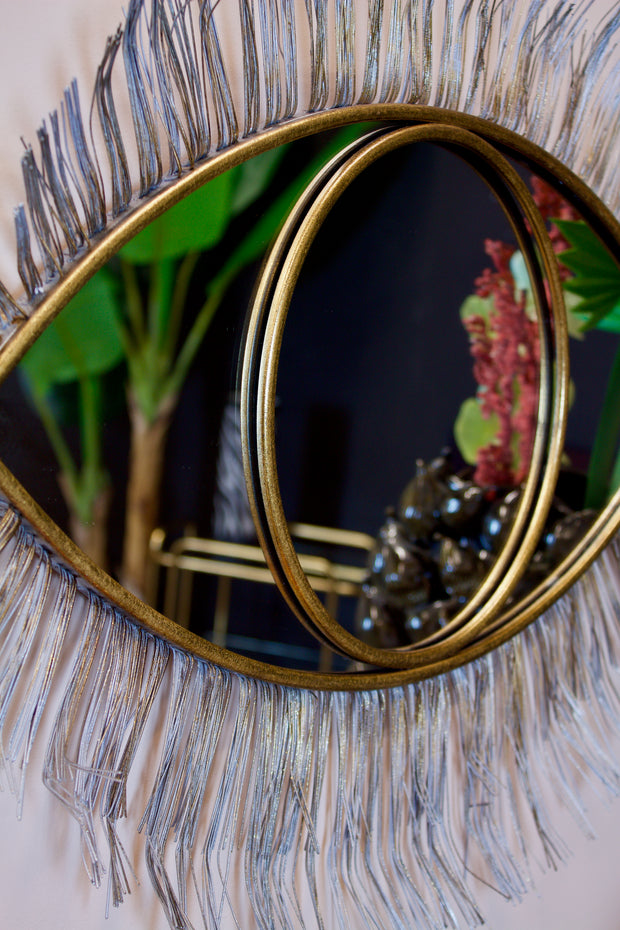 Large Gold Winking Eye Wall Mirror