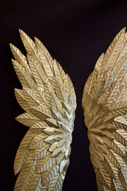Shimmering Gold Large Angel Wings