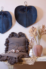 Bamboo Black Fan Wall Decor