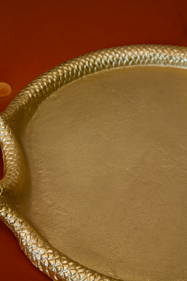 Serpent Gold Cast Tray