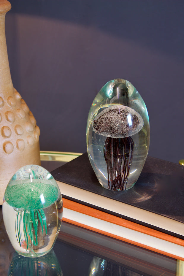 Jellyfish Glass Paperweight