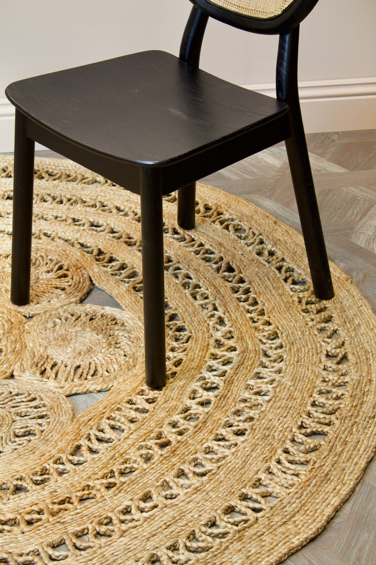 Round Large Jute Braided Rug