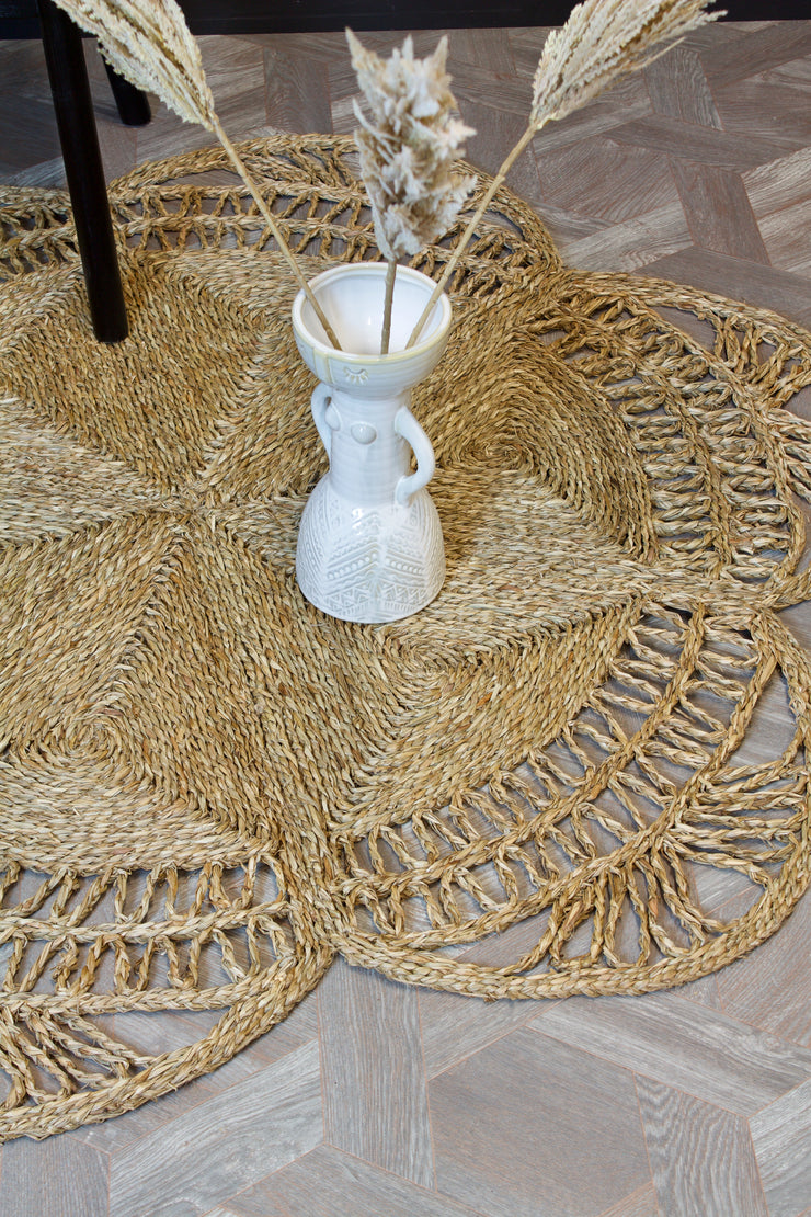 Round Hand-braided Seagrass Rug