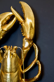 Gold Lobster Wall Decoration
