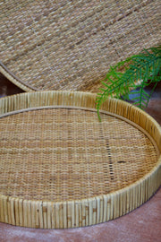 Round Rattan Trays - Set of 2