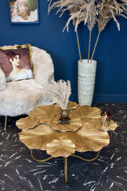 Gold Leaves Large Coffee Table