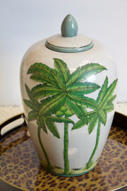 Small Colonial Crackle Glaze Ceramic Jar