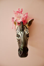 Zebra Head Wall Sconce