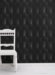 Black Chesterfield Wallpaper by Young & Battaglia