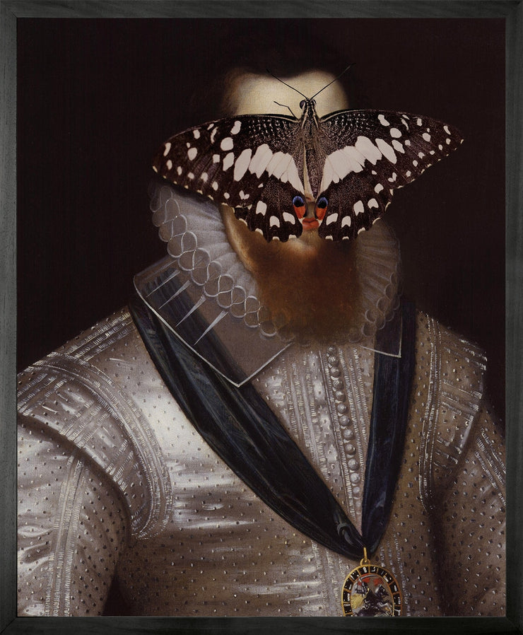 Portrait of Black and White Butterfly on Man - Young & Battaglia