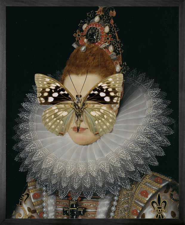 Portrait of Spotted Butterfly on Lady - Young & Battaglia