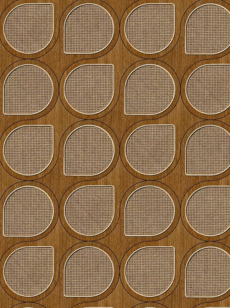 Drops Webbing Oak Wallpaper