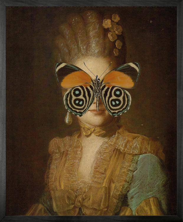 Portrait of Orange and Green Butterfly on Lady - Young & Battaglia