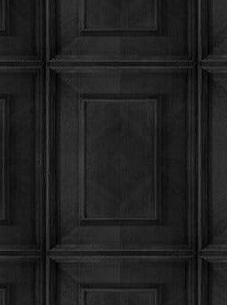 Charcoal Dutch Inlay Panelling Wallpaper by Young & Battaglia