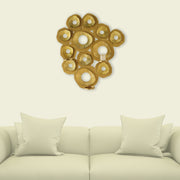 Wall Candle Art Golden
