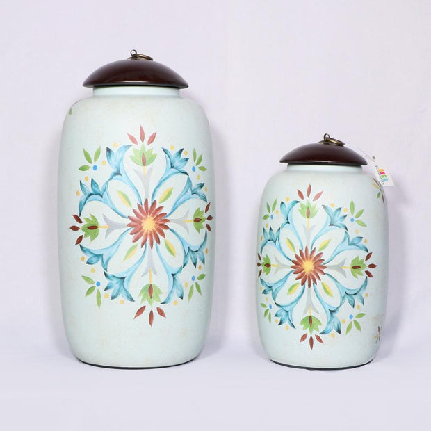 Hand-Painted Ceramic Pot Set