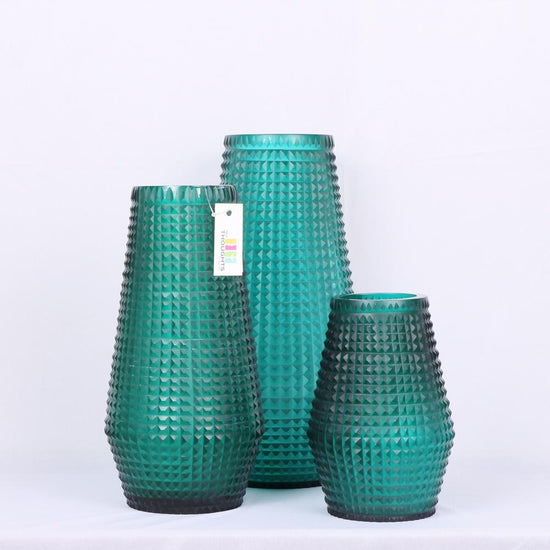 Aquatic Blow-Moulded Vase Set
