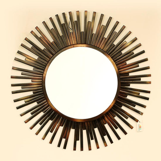 Starbust Backlit Metal Wall Mirror