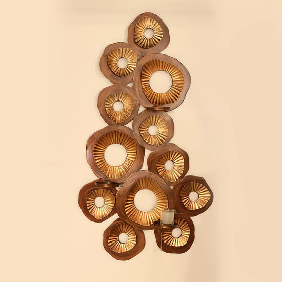 Wall Candle Art Copper