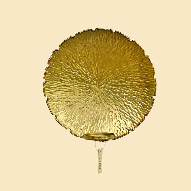 Golden Diya Wall Candle Holder