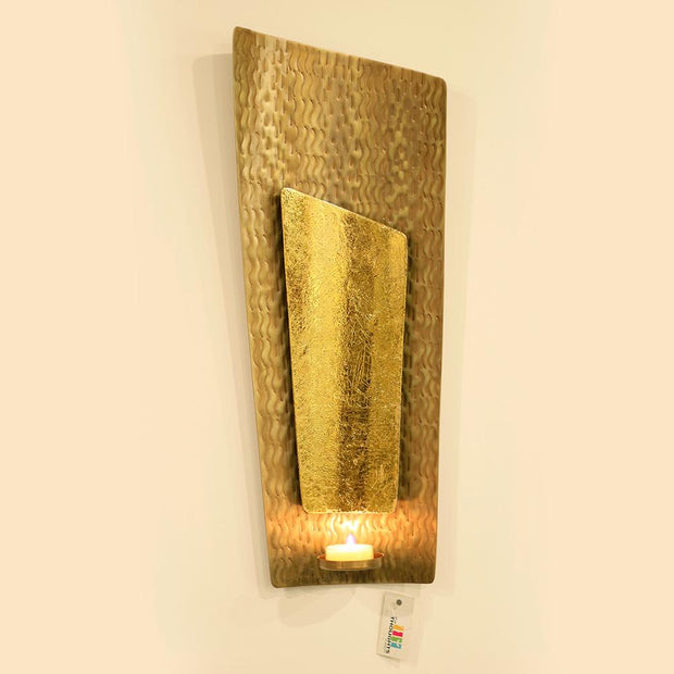 Golden Wall Candle Holder