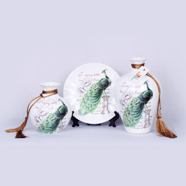French Pot Set - Peacock