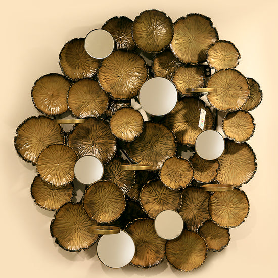 Brilliant Metal Wall Sculpture Gold