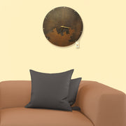 Antiqued Metal Round Wall Clock