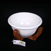 Ceramic Bowl with Wooden Stand 1