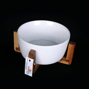 Ceramic Bowl with Wooden Stand 2